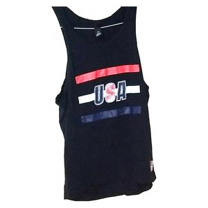 H&M USA midnight blue tank top Sm